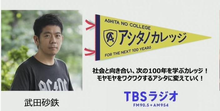 出演しました【TBSラジオ アシタノカレッジ】